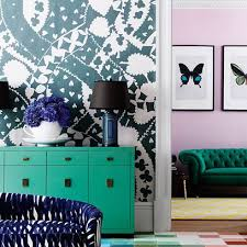bedroom paint and wallpaper ideas. wallpaper and paint feature wall ideas - living room walls (houseandgarden.co.uk) bedroom