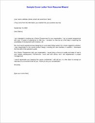 Email Cover Letter For Resume Resume Cover Letter