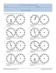 elapsed time worksheets | telling time worksheet for third grade ...