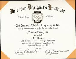 certificate of interior design. Plain Certificate Online Interior Design Certificate 1 Here You Go Then Can A Least Tell In Of E