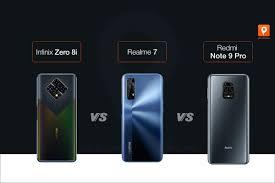 Infinix Zero 8i vs Realme 7 vs Redmi ...