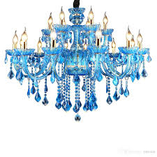 hanging crystals for chandeliers vintage crystal chandelier cobalt blue light fixture large turkey style luxury wrought