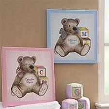 teddy bear canvas wall art