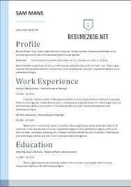 Resume Letters : Some Different Types Of Resumes