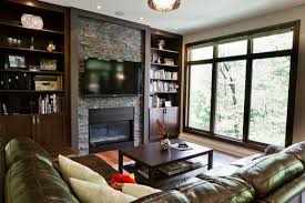 Modern Living Room With Fireplace And Tv effective living room