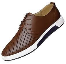 Santimon <b>Men's</b> Shoes <b>Casual</b> Oxford <b>Breathable Leather</b> Flat ...