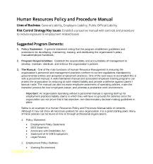 Employment Manual Template Free Office Procedures Manual Template ...
