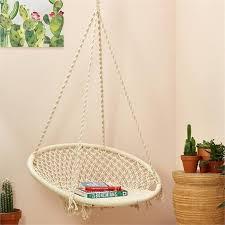 macrame swing chair macrame hanging chair diy