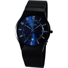 t233xltmn aktiv skagen men s watch watches2u skagen t233xltmn mens aktiv blue and black titanium watch