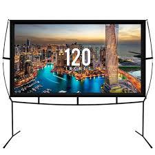 jumbo 120 inch 16 9 portable outdoor and indoor theater projector screen black