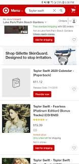 so i was just browsing taylor swift on target and appaly we have a new calendar coming in july notice that they don t show the cover