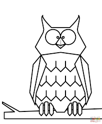 Disegno Di Gufo Dei Cartoni Animati Da Colorare Disegni Da Con