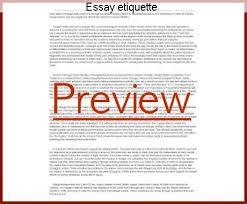 essay etiquette coursework help essay etiquette