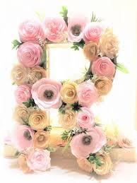 Flower Paper Mache Paper Mache Letter Paper Mache Number Floral Letters Flower