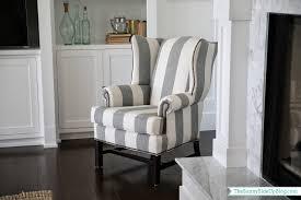 gray wingback chair. New Chair! Gray Wingback Chair