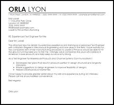 test engineer cover letter sample industrial engineer cover letter