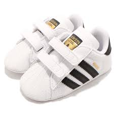 Adidas Crib Shoe Size Chart Details About Adidas Originals Superstar Crib White Black Td Toddler Infant Baby Shoes S79916