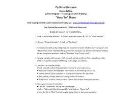 optimal resumes optimal resume instructions resumes resume career