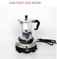 Bếp điện mini 500w nắp gang đa năng giá rẻ : pha trà - pha cà phê - hầm -  đun sôi - Bếp các loại