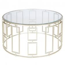 Round Coffee Table Glass Metal Design Inspirations