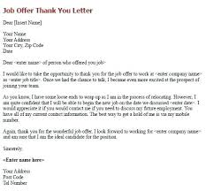 Job Offer Thank You Letter Thank You After Accepting Job Offer Edmontonhomes Co