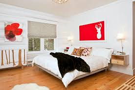 unique decorate a room with white walls fabulous white bedroom with red accent at wall