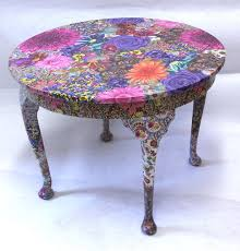 funky furniture material. fabric decoupage project. funky furniture material t
