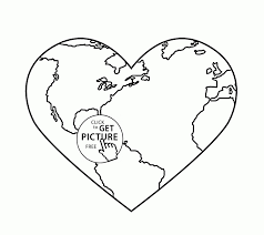 Printable Earth Coloring Pages Stunning Earth Heart Earth Day