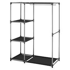 whitmor spacemaker garment rack and shelves black target book rack