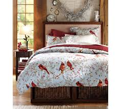 winter duvet covers. Wonderful Winter Red And White Bird Theme Of Winter Duvet Covers Storage Place Inside  The Bed In O
