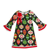 Details About Rare Editions Girls 7 Black Ornament Knit Christmas Dress Nwt 64