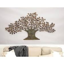 litton lane iron copper brown oak tree wall decor