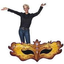 Cardboard Masks To Decorate 60in Tall x 60ft Wide Use this cardboard cutout of a masquerade 38