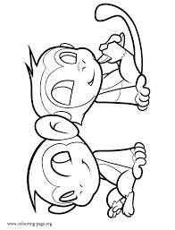 Small Picture Monkeys Two friendly monkeys coloring page