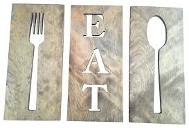 fork spoon wall decor eat fork spoon kitchen art wooden plaques carved wooden wall decor with fork spoon