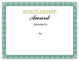 scholarship award certificate templates scholarship certificates templates template business cool