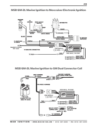 msd ignition wiring diagrams msd 6m 2l marine ignition to gm dual connector coil