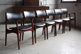 mid century modern table and chairs daunting danish midcentury modern erik buck rosewood dinin