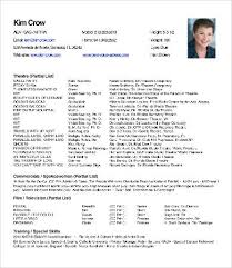 Actor Theater Resume