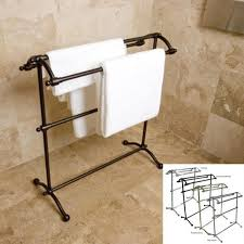Premium Pedestal Solid Brass Towel Stand Free Shipping Today
