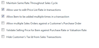 Invoice Price Cannot Change Sales Invoice Price Rate Selling Crm