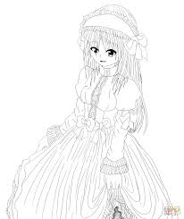 Small Picture Anime Maid Character by Gabriela Gogonea coloring page Free