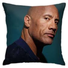 Amazon.com: JUNIP Fashion Design Pillow Case with Dwayne-Douglas-Johnson-Picture  Square Pillowcase Throw Cushion Cover 18in18in: Home & Kitchen