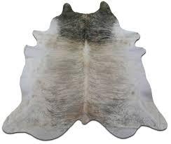 more views light brindle cowhide rug