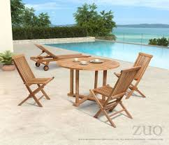 regatta outdoor dining set with round table folding chairs