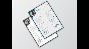 Creative Cv Resume Design In Adobe Illustrator Cc Youtube