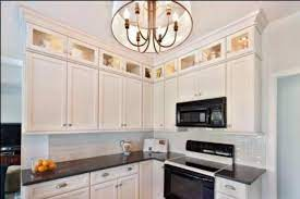 glass doors above cabinets upper