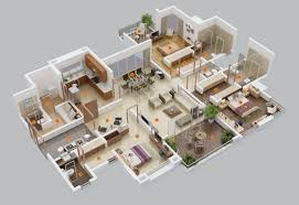 free 4 bedroom house plans south africa new 3d plan home 3d plan home new home