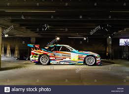 Jeff Koons BMW GT2 E92 M3 Art Car in multi-storey car park Stock ...