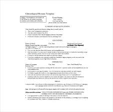 Word Resume Template Free Simple Pdf Resume Template Standard Resume Format One Page Resume Template